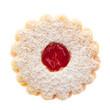 Kekse: Spitzbube von oben auf weißem Hintergrund