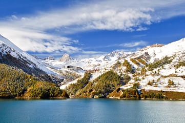 Tignes et le lac du Chevril
