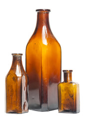 Isolated old style bottles