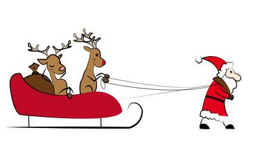 der Weihnachtsmann hats schwer
