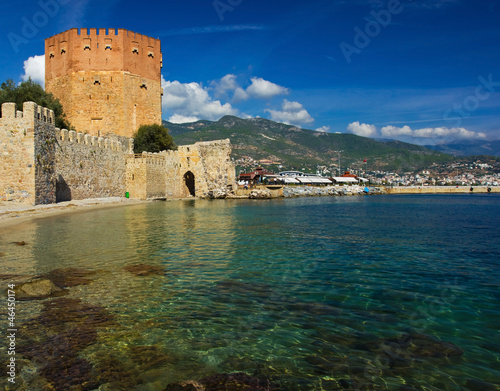 Kizil kule (red tower) - main landmark of Alanya