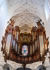 Beautiful music instruments in Polish cathedral