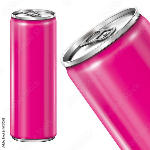 Can on white background - pink