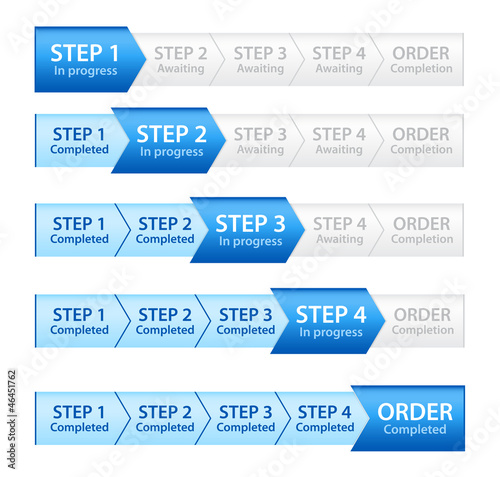 Blue Progress Bar for Order Process