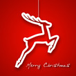 Christmas jump deer applique background