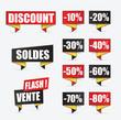 soldes, réduction, étiquettes promo