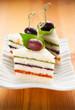 Tricolored sandwich stacks