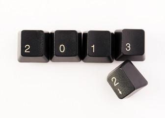 Keyboard keys - new year 2013