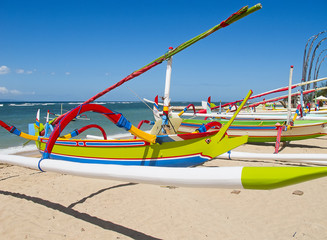 """Traditional balinese """"dragonfly"""" boat"""