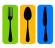 Vector colorful cutlery icon