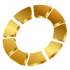 Vector illustration of gold cycle icon