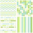 retro wzory geometryczne zestaw turkusowo zielony