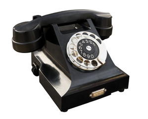 Old phone isolated. Clipping path included.