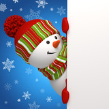 Fototapety snowman banner