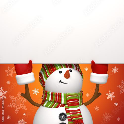 snowman message banner