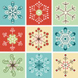 Retro snowflakes, Christmas decoration