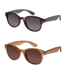 Pair of sunglasses in different colors isolated on white