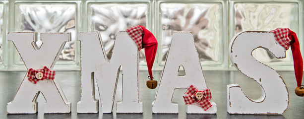 Hand made shabby christmas letters