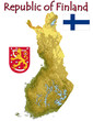 Finland Europe national emblem map symbol motto