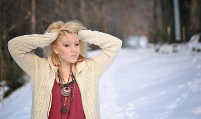 Ragazza nella neve