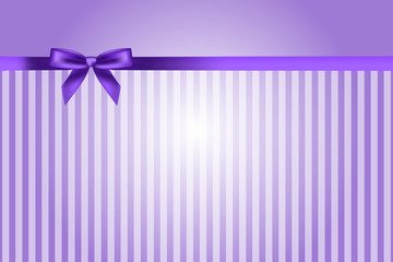 Vector purple background with bow