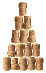 Stack of Champagne Corks