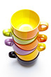 Color cups tower