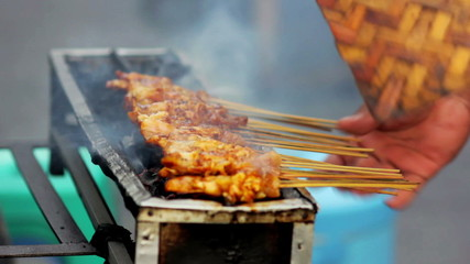spicy thai indonesian street food