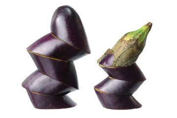 Sliced Aubergine