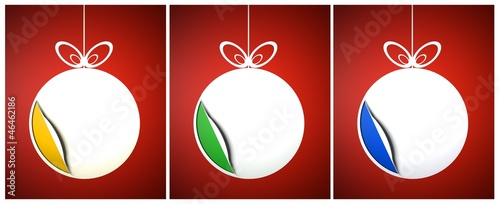 Creative colored Christmas balls set