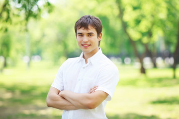 Young man outdoor