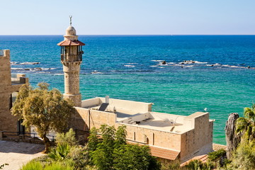 Sea mosque in the ancient Jaffa