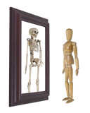 Model Looking into Mirror and Seeing Skeleton