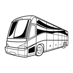 Big transport tourist Bus