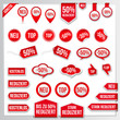 Vector Red Price Tags, Labels,...