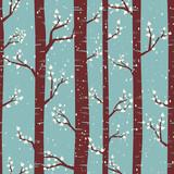 Fototapety Winter Forest Seamless Pattern