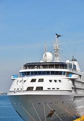 Cruise tourist ship in Black sea, Odessa, Ukraine