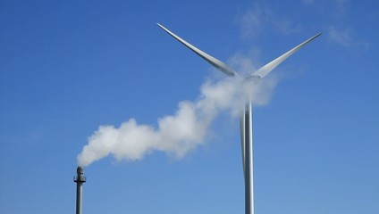 Pollution & wind energy