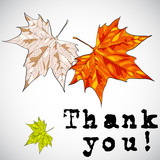 Thank you greeting card - vector illustration