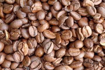 Kaffee, Kaffeebohnen, Bohnen, geröstet, Arabica, Robusta