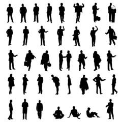 set of men silhouettes