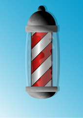 Barber Shop Pole Lamp