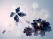 Amethyst Flowers like Butterflies / Surreal sketch