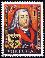 Postage stamp Portugal 1969 Portuguese King Jose I