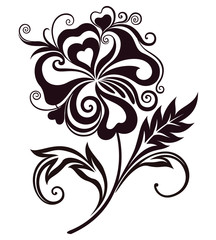 Abstract flower line-art