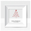 Merry Christmas Greeting Card with Christmas tree, , vector illu