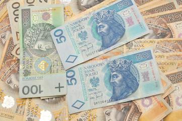 A pile of polish money