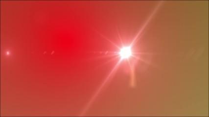 Luz y reflejo sobre fondo rojo