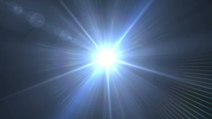Luz de foco acercándose y fundido a blanco