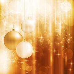 Golden sparkling Christmas card
